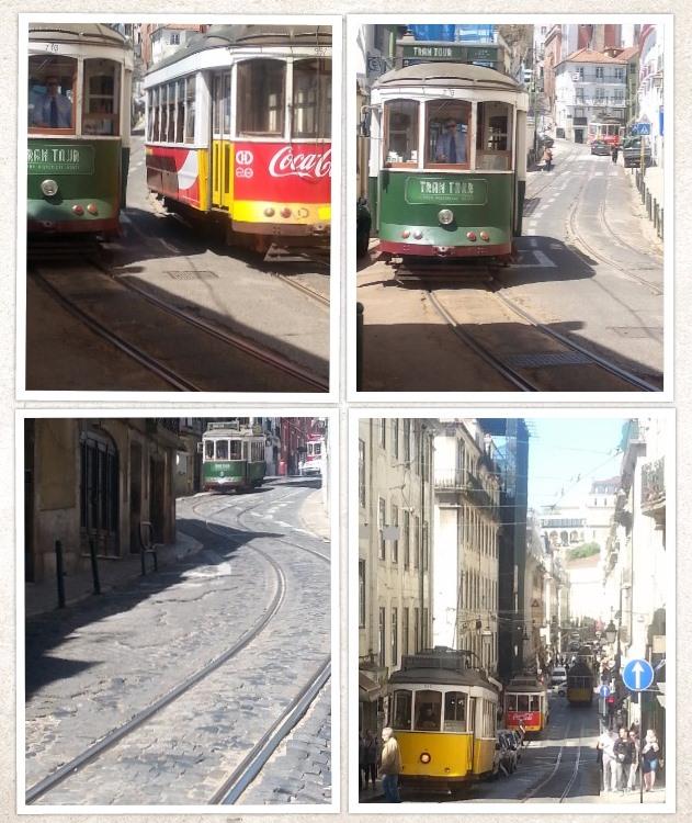 De beroemde trammetjes (Eléctrico) van Lissabon