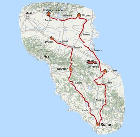 Kaart Mille Miglia